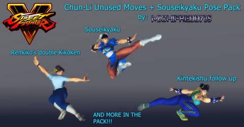 Chun-Li Unused Moves + Souseikyaku Pose Pack