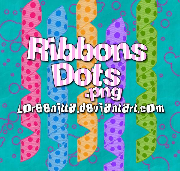 Ribbons Dots by Loreenitta