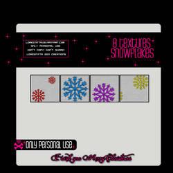 8 Textures Snowflakes