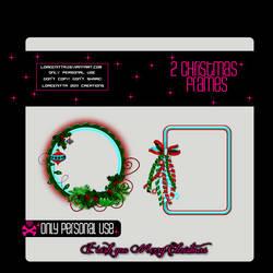 2 Christmas Frames PNG