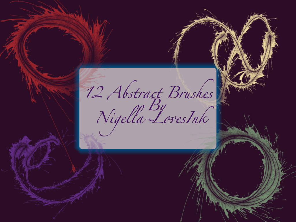 Abstract Firework Brushes by Nigella-LovesInk