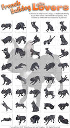 French Bulldog Lovers Images PNG-350 by Winterbrose-AandG