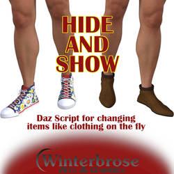HIDE-and-SHOW Script for Daz Studio by Winterbrose-AandG
