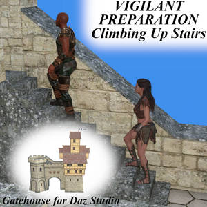 Vigilant Preparation Poses Climbing Up Stairs G8