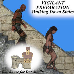 Vigilant Preparation Pose G8 - Walking Down Stairs