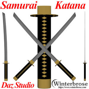 Samurai Katana Sword for Daz Studio