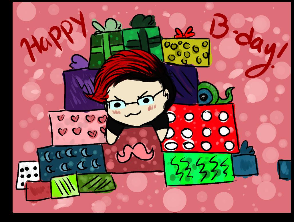 HappyBdayMarkimoo by Liloswaldtherabbit