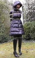 RopedInCoats - Hobbled Puffy Coat Walk