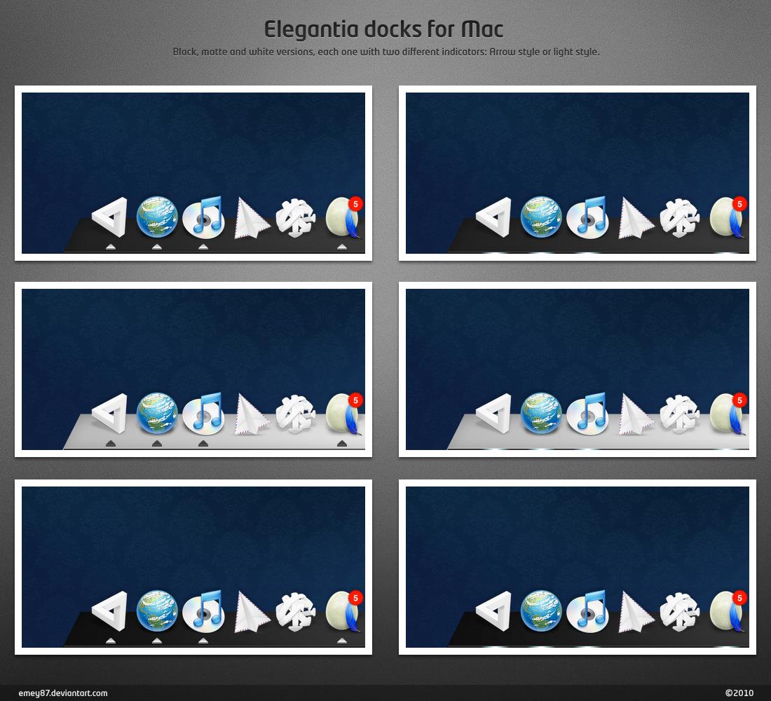 Elegantia docks for Mac by emey87