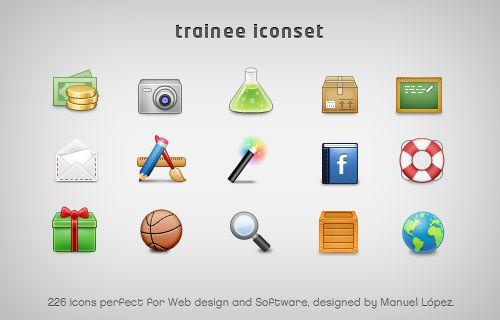 trainee iconset 226 icons