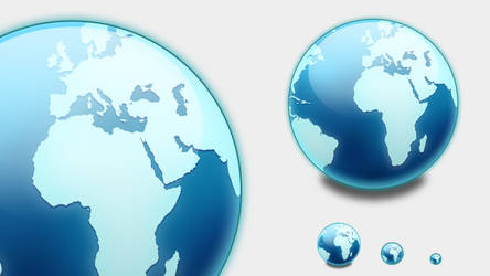 Blue globe by emey87