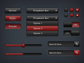Bloods UI PSD by emey87