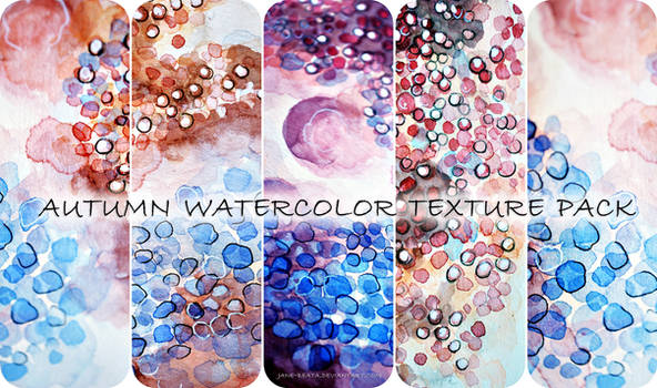 Autumn watercolor texture pack