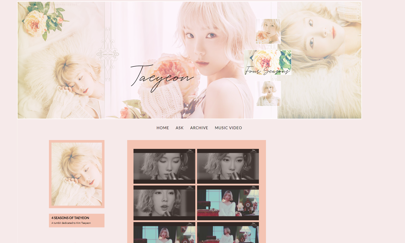 [TUMBLR LAYOUT] Taeyeon 4 Seasons