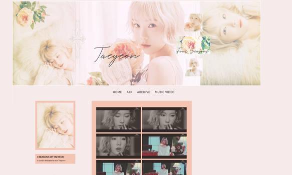 [TUMBLR LAYOUT] Taeyeon 4 Seasons