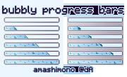 bubbly progress bars by amashimono