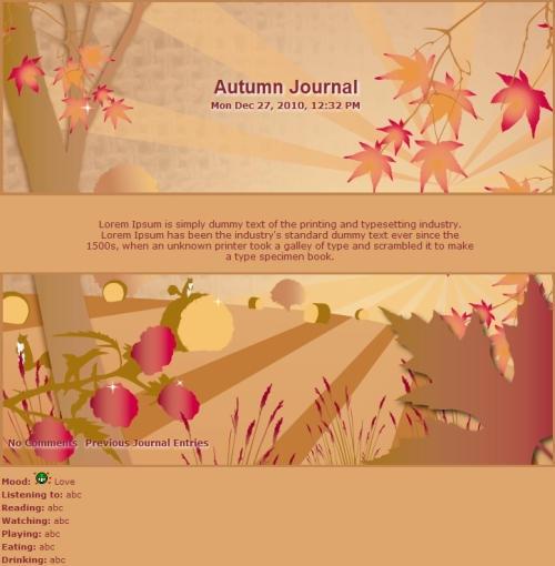 4 Seasons Autumn Journal by Vivirmivida