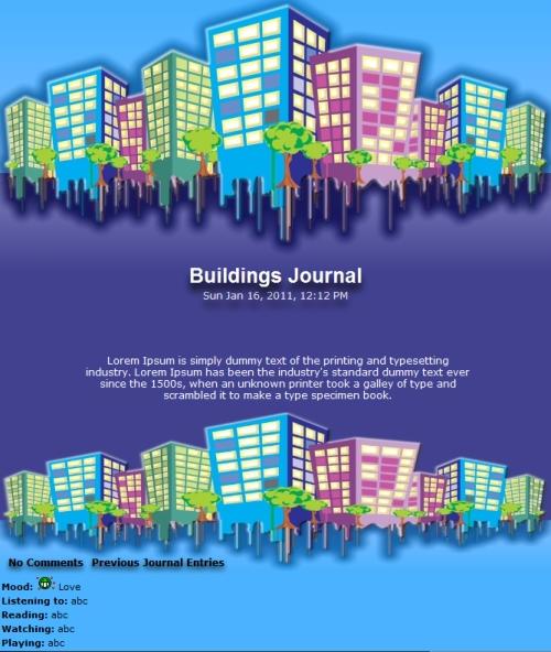 Buildings Journal by Vivirmivida