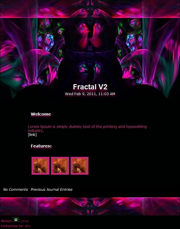 Fractal Journal Ladies by Vivirmivida