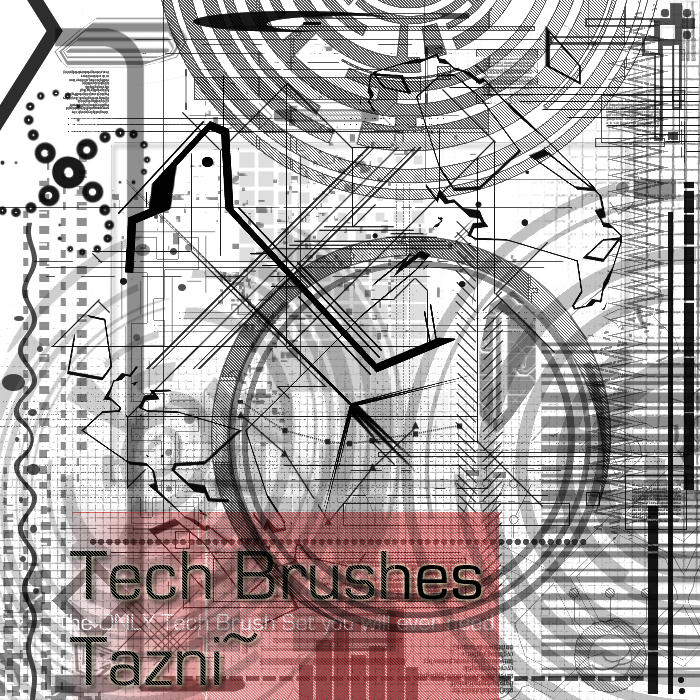 Tech  Brushes by Tazni