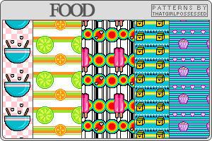 Food - Pattern Set by trishajessica