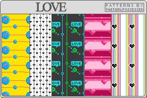 Love - Pattern Set by trishajessica