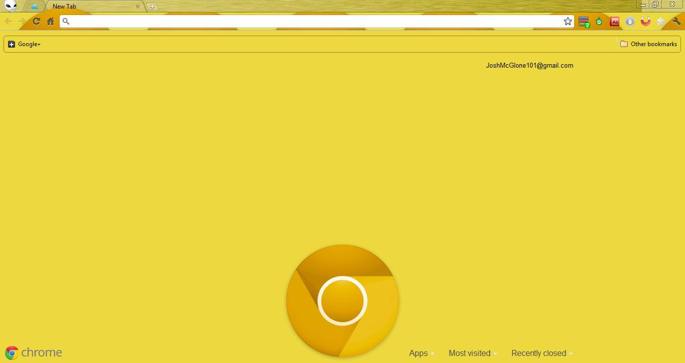 Google chrome themes yellow - Google Chrome Canary Yellow By Josh101fm Google Chrome Canary Yellow By Josh101fm