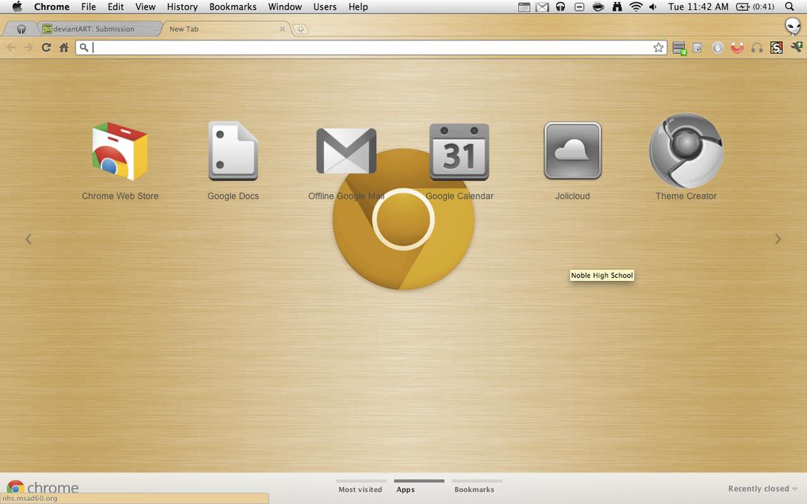 Google chrome themes yellow - Google Chrome Canary Gold New By Josh101fm