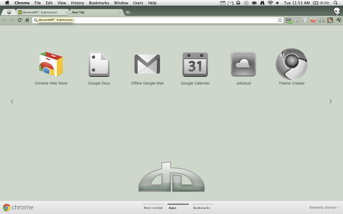 Google Chrome Deviantart Theme By Josh101FM On DeviantArt