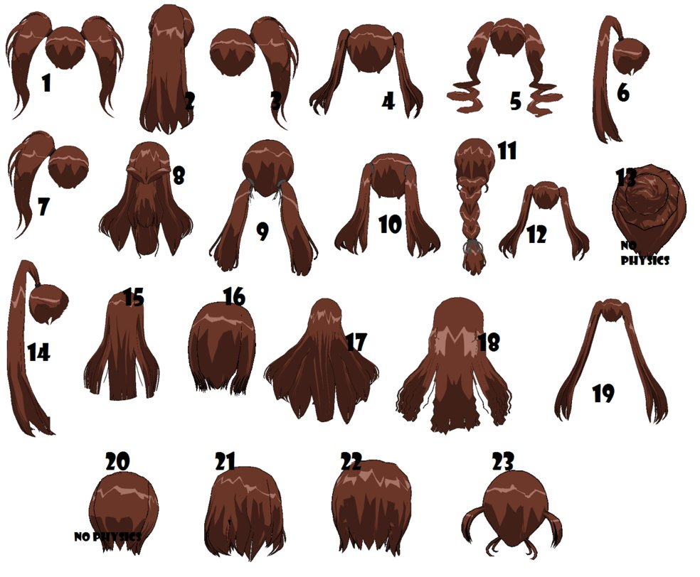 3dcg Default Back Hair By Mmdxdespair On Deviantart