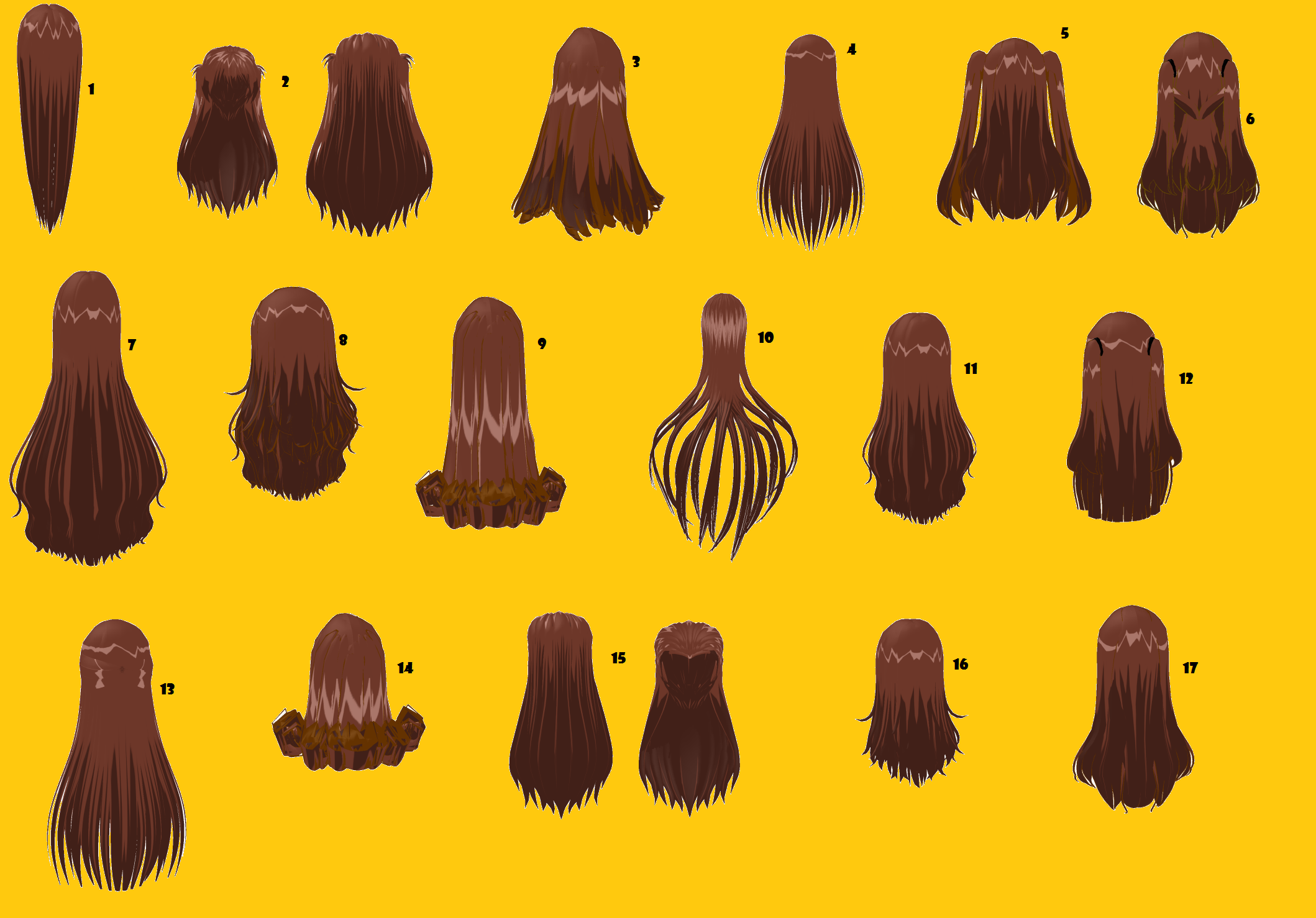 Long Hairstyles By MMDxDespair On DeviantArt
