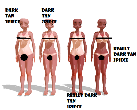 Mature tan lines