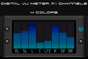 Digital VU Meter 7.1 channels by HiTBiT-PA