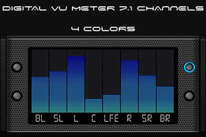 Digital VU Meter 7.1 channels by HiTBiT-PA