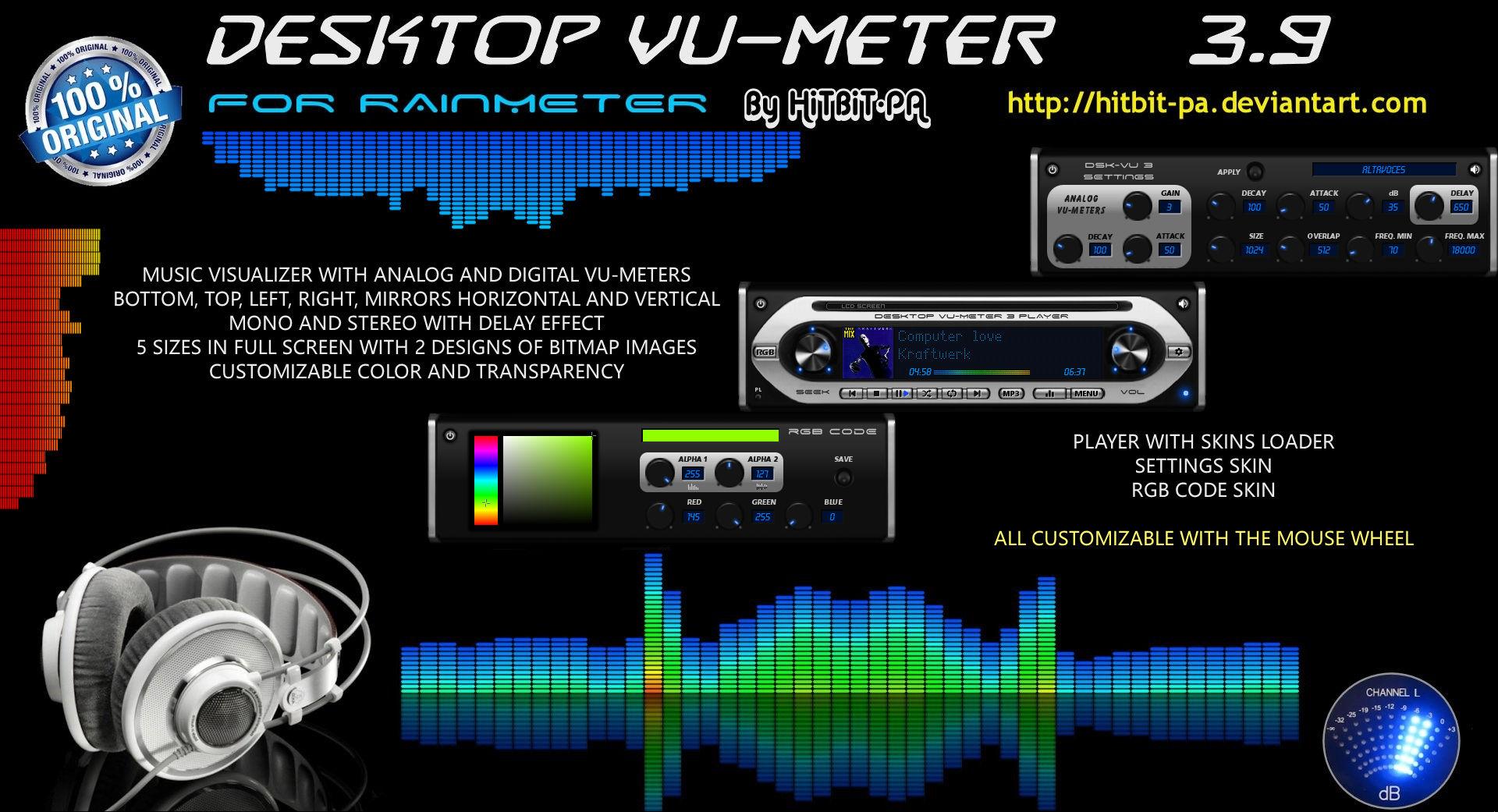 Windows media player vu meter visualization plugin