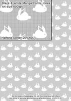 Rabbits screen-tone by acory