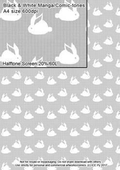 Rabbits screen-tone