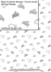 Rabbits Halftone Screen by acory