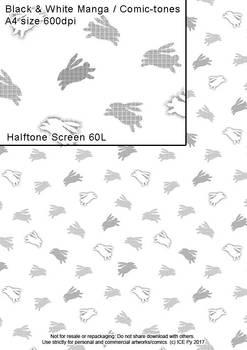 Rabbits Halftone Screen
