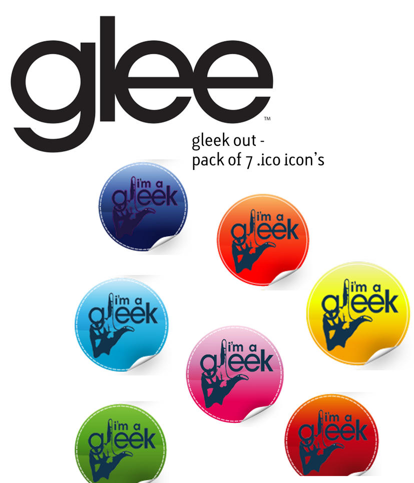 I'm A Gleek Sticker Pack by lessink
