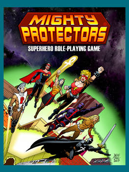 Mighty Protectors RPG Cover Art Poster (18 x 24)