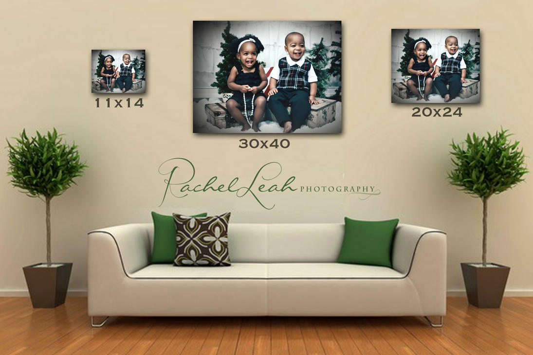 Sizing guide templates rachel leah photography - Photo wall display template ...