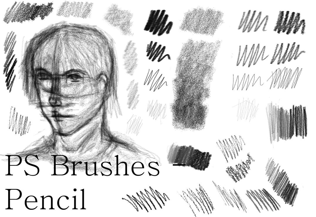 Ps brushes pencil edit by dark zeblock