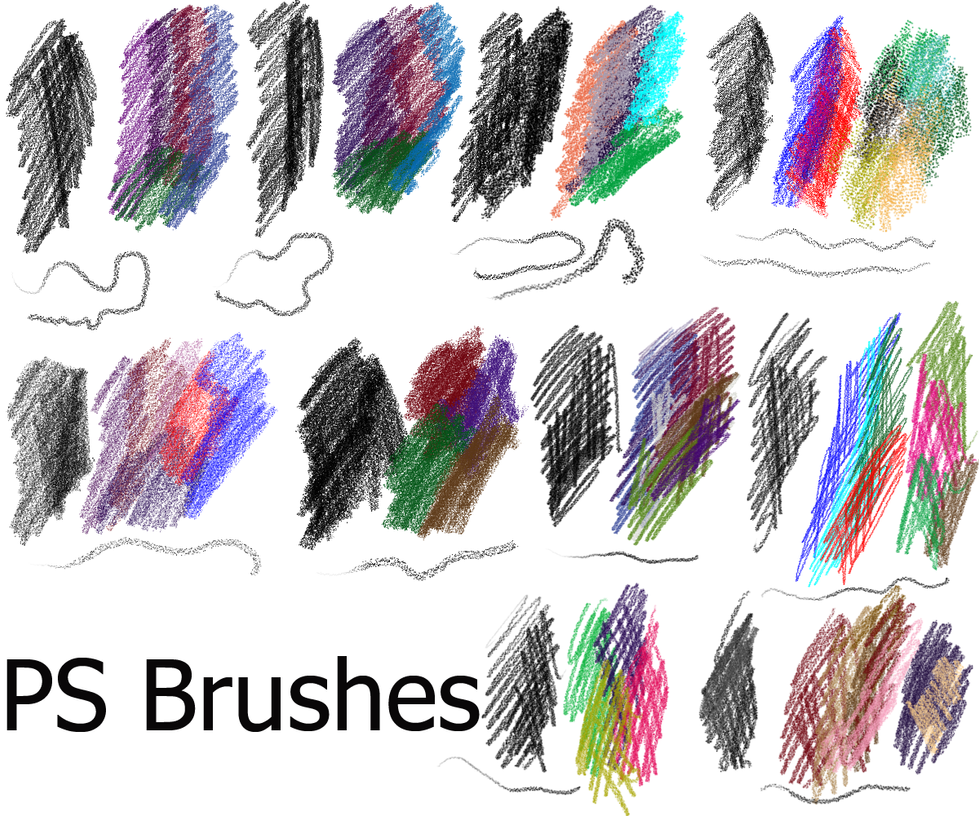 ps brushes coloured pencil by dark zeblock