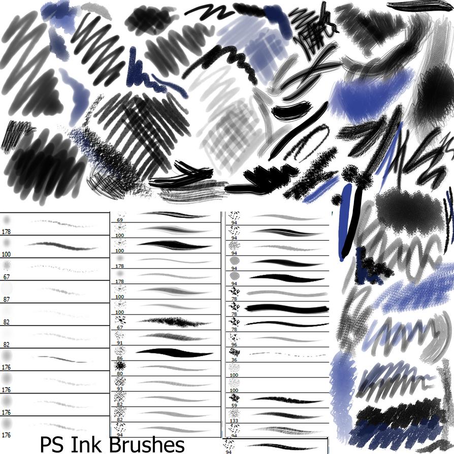 Ink PS Brushes by Dark-Zeblock