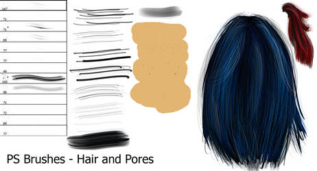 PS Brushes - Hair and Pores