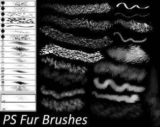 PS Fur Brushes by Dark-Zeblock