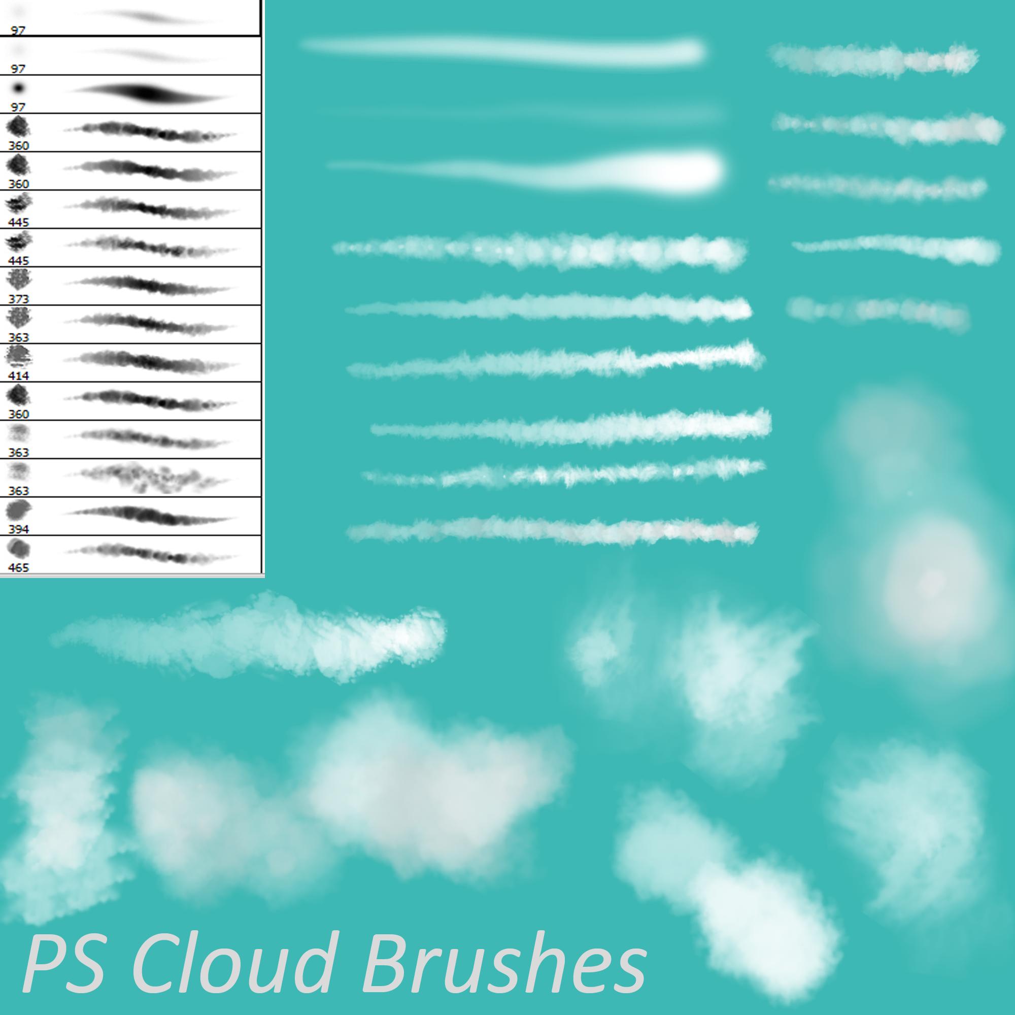 PS Cloud Brushes by Dark-Zeblock