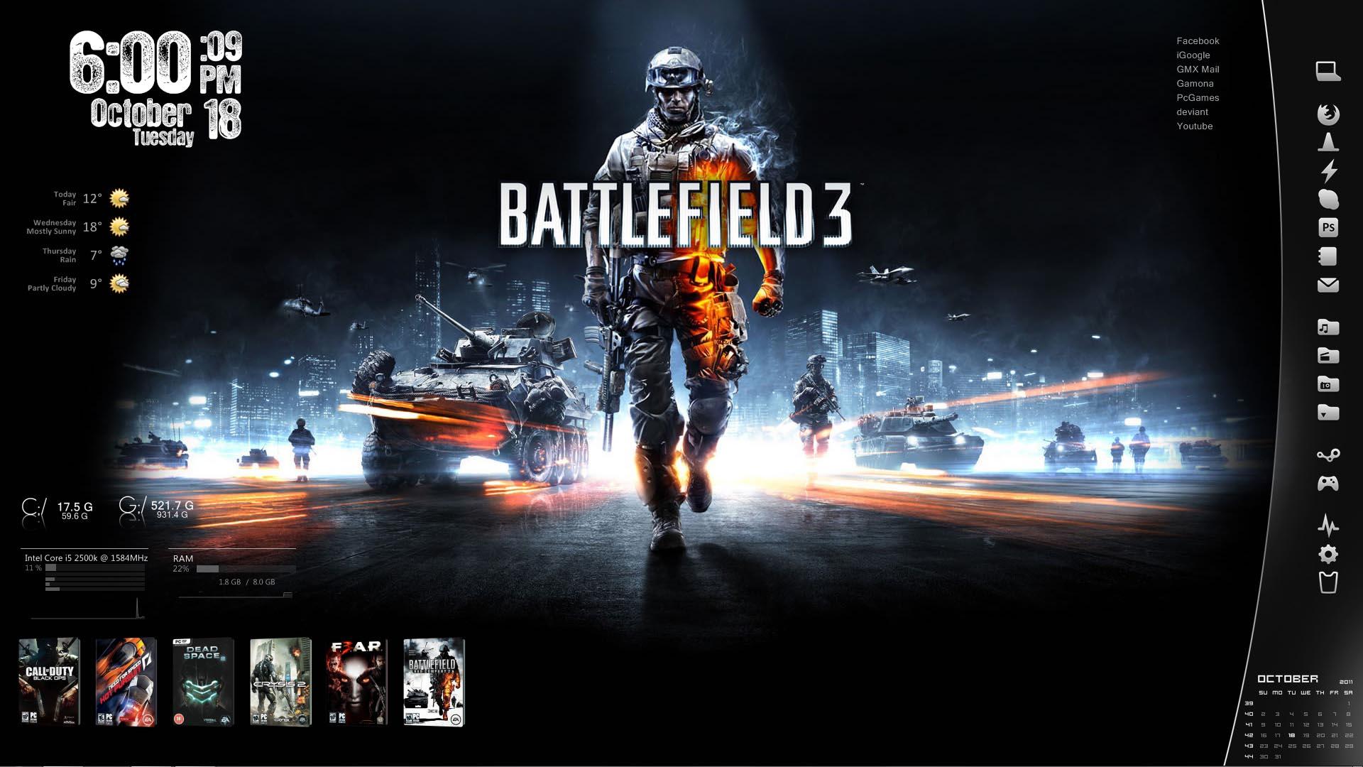 Battlefield 3 - Rainmeter by AikoTakashi