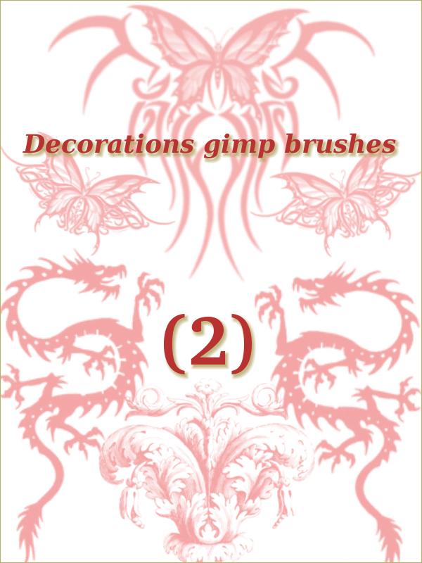 decoration gimp brushes 2 by ahmadhasan